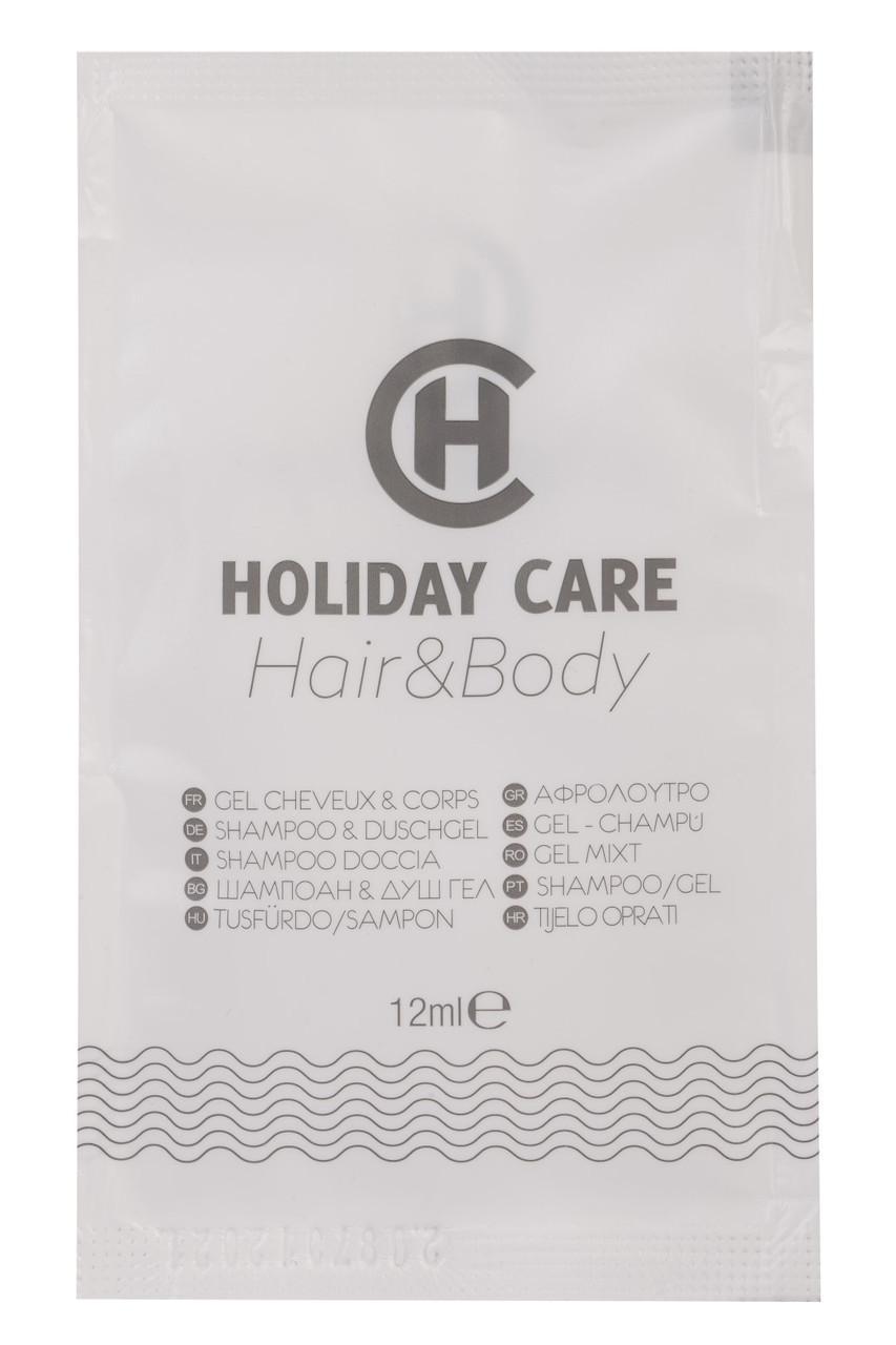 Гель 2в1 для волос и тела 12 мл для гостиниц (от 150 шт.)