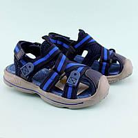 Босоножки мальчику спорты с закрытым носком Сниний Том.м размер 26,28