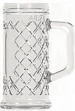 Кружка пивная стеклянная 500 мл UniGlass Rhombus