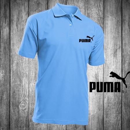 fe9895fd9b00 Футболка, поло, тенниска PUMA,голубая, ПУМА, реплика, летняя ...