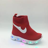 Кроссовки высокие Nikes (21-25) р Cosby Китай красные AX059-4