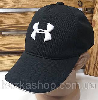 Мужская кепка черного цвета с большой вышивкой Under Armour, на регуляторе, материал лакоста, фото 2
