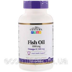Рыбий жир, 21st Century (1000 мг, 120 капсул)