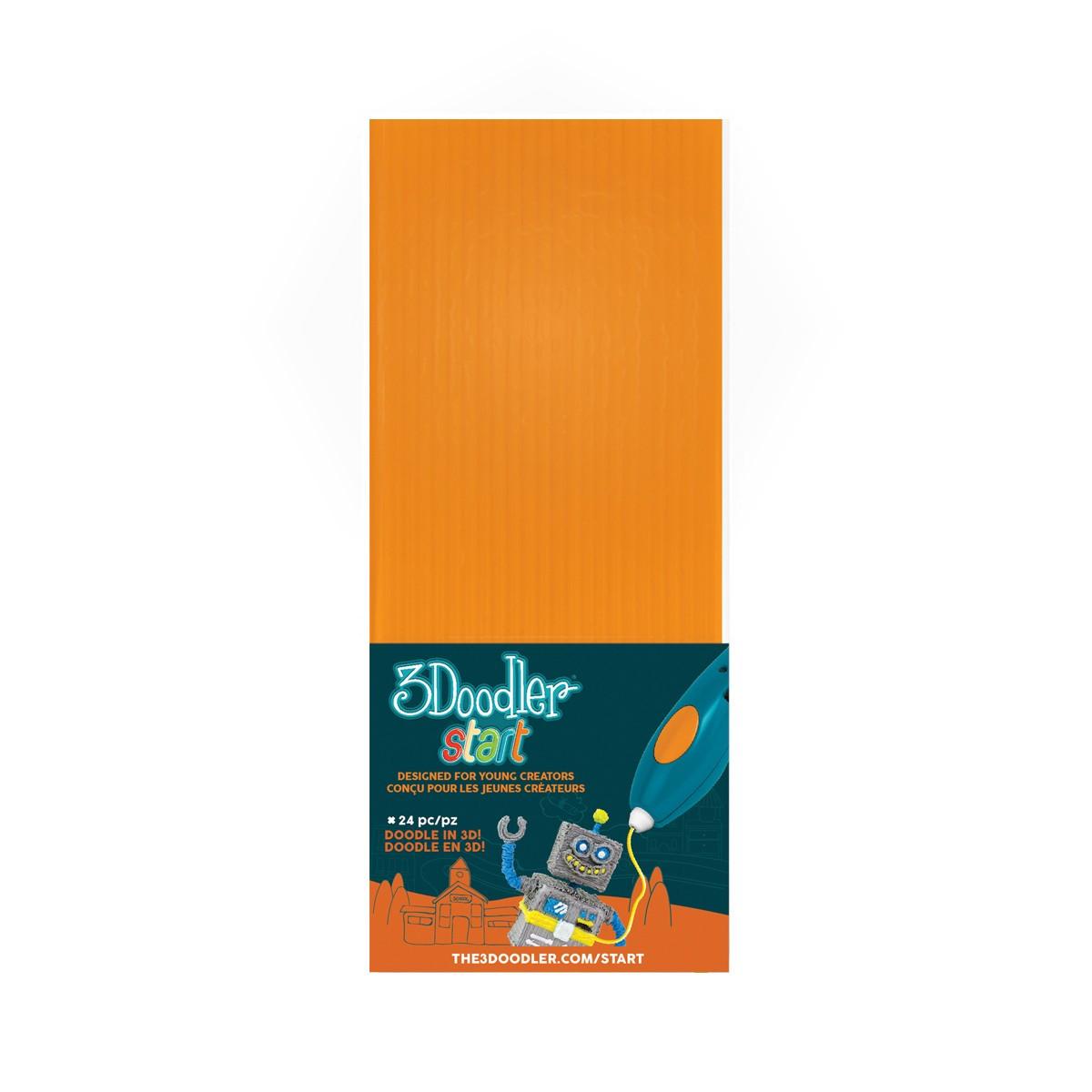 Набір стержнів для 3D-ручки 3Doodler Start (помаранчевий)