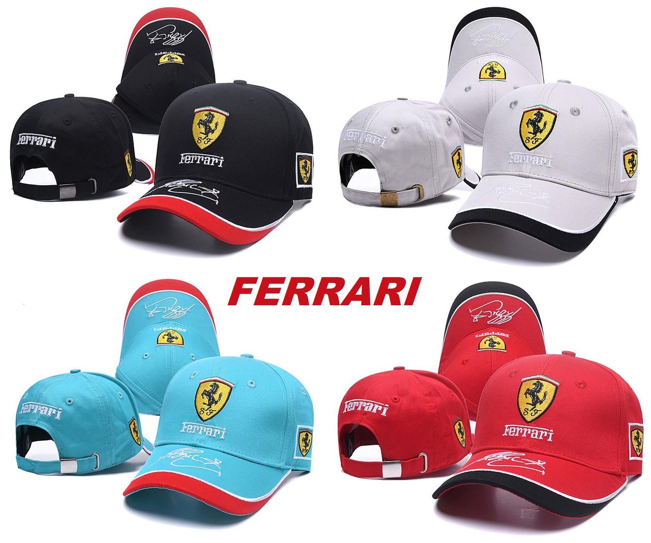 Разные цвета FERRARI кепка бейсболка мужская, женская феррари