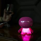 Акустика XOOPAR - XBOY GLOW (12 cm, розовая, Bluetooth, стерео, сс MP3-проигрывателем с SD-карты), фото 8