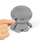 Акустика XOOPAR - XBOY GLOW (12 cm, серая, Bluetooth, стерео, с MP3-проигрывателем с SD-карты), фото 4