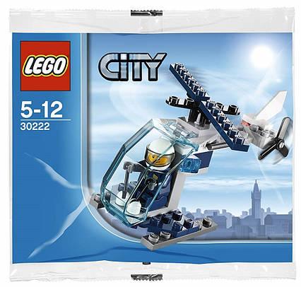 Lego City Полицейский вертолёт 30222