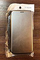Чехол-книжка на телефон Samsung Galaxy A7 2018, A750 серого цвета