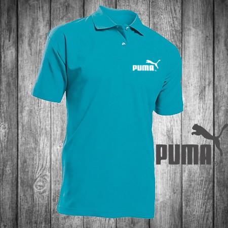 8eff3f0e8751 Футболка, поло, тенниска PUMA, ПУМА,синяя, реплика, летняя спорт ...