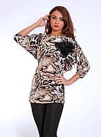 Модная летняя туника с ярким тигровым принтом