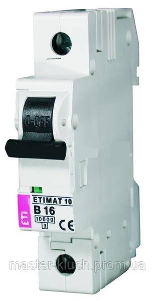 Автоматический выключатель ETI 1p 16A