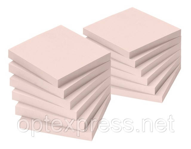 Самоклеющийся блок  100 листов 75х75 мм пастельный INFO NOTES