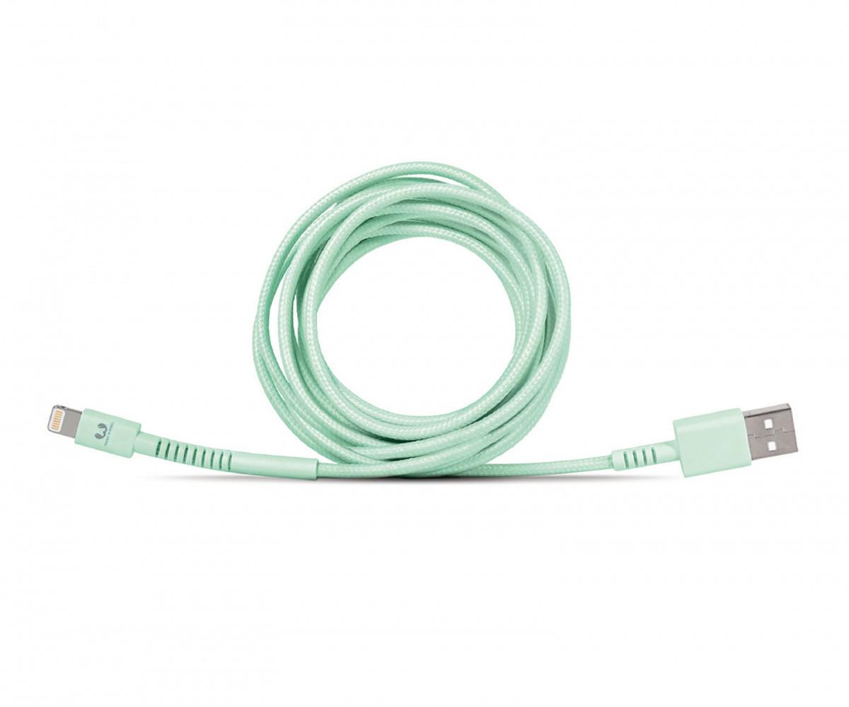 Fresh 'N Rebel Fabriq Lightning Cable 3м pepermint USB 2.0 USB-A Apple Кабели синхронизации A male