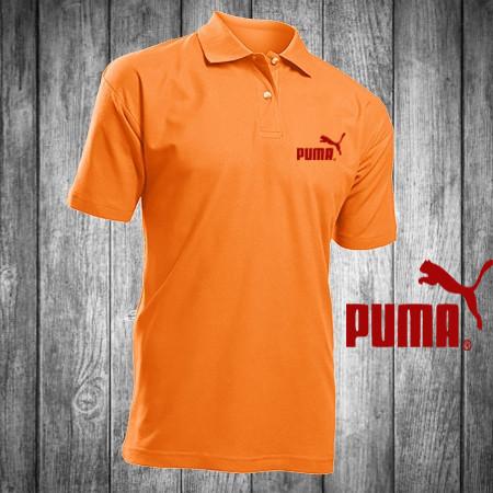 Футболка, поло, тенниска PUMA red, ПУМА,оранжевая, реплика, летняя спорт