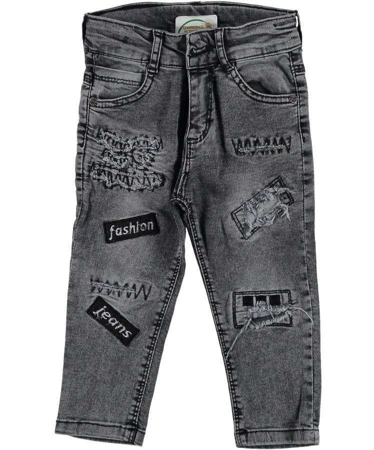 Джинсовые штаны брюки для мальчика серые