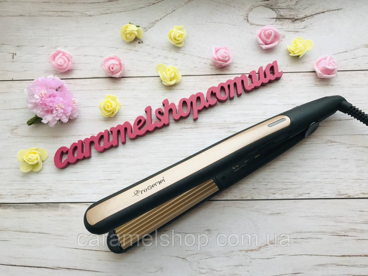 Утюжок ГОФРЕ плойка для волос с турмалиновым покрытием Gemei GM-2955W