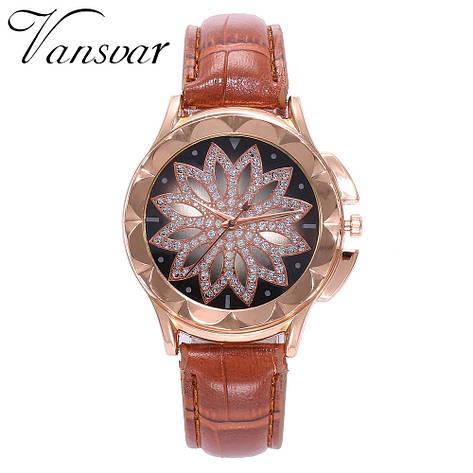 Жіночі наручні годинники (коричневий ремінець), фото 2