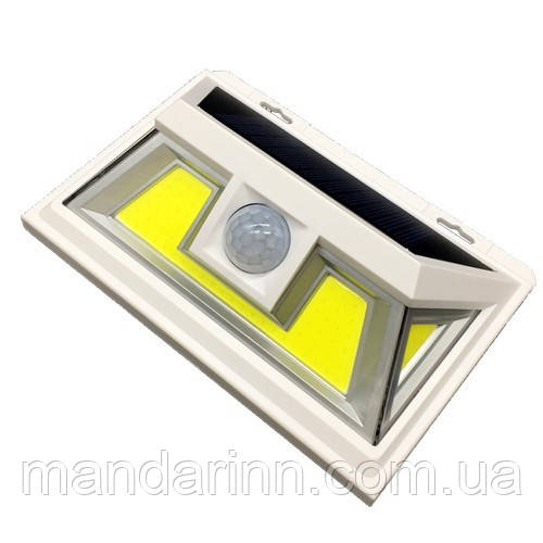 Светильник 8W на солнечной батарее с датчиком движения. Светодиодный светильник настенный Led