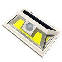 Светильник 8W на солнечной батарее с датчиком движения. Светодиодный светильник настенный Led, фото 1