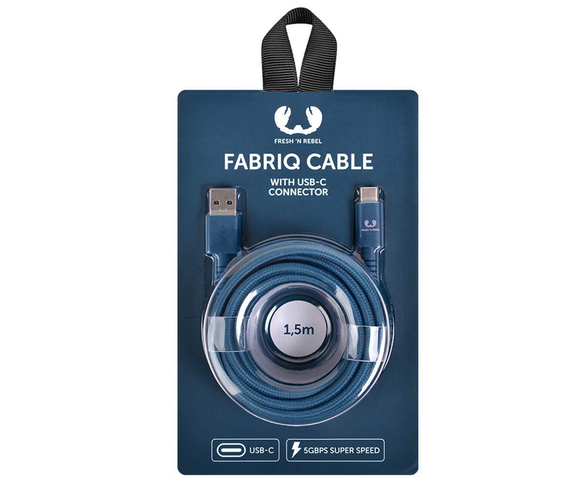Кабель Fresh 'N Rebel Fabriq Type-C Cable 1.5м indigo (2CCF150IN) EAN/UPC: 8718734655459