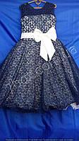 Детское нарядное платье бальное Парижанка мадмуазель. 9-10 и 6-7лет. Белый+черный