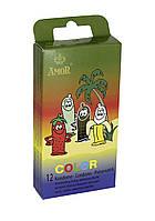 Ароматизированные цветные презервативы - Amor Color, 12 шт.