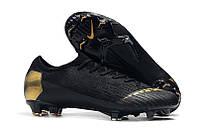Бутсы Nike Mercurial Vapor Elite XII FG balck/gold, фото 1