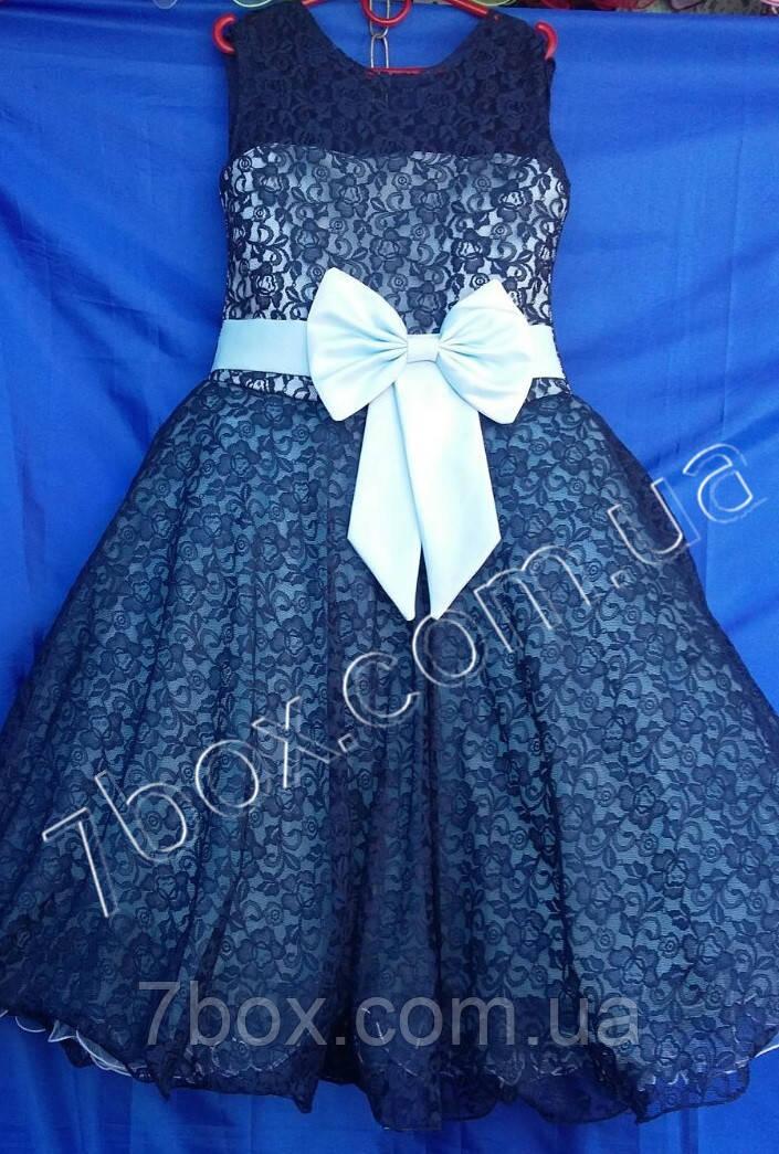 Детское нарядное платье бальное Парижанка мадмуазель. 9-10 и 6-7лет. Голубой