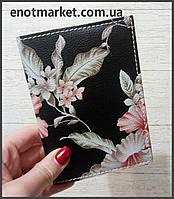 """Обложка на паспорт """"Цветы"""""""