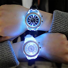 """Женские наручные часы """"Geneva"""" с подсветкой (черный), фото 3"""