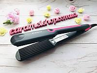 Плойка ГОФРЕ утюжок для волос Kemei KM 2116 керамика, фото 1