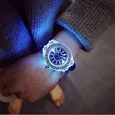 """Женские наручные часы """"Geneva"""" с подсветкой (черный), фото 2"""