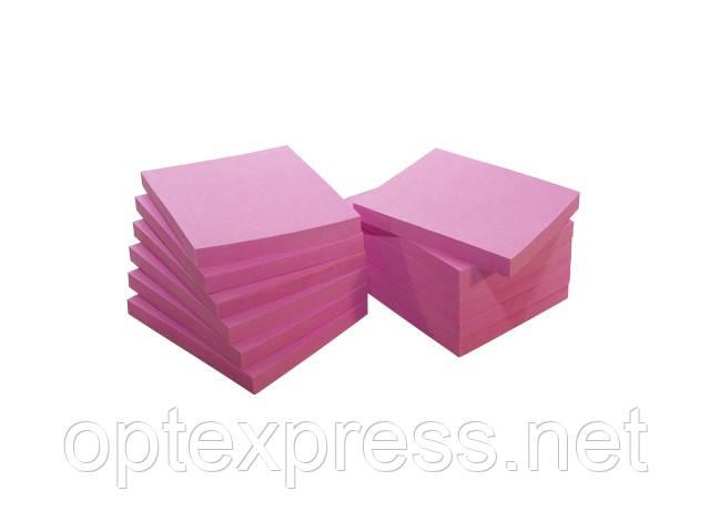 Самоклеющийся блок  80 листов 75х75 мм неоновый INFO NOTES