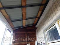 Балкон под ключ с крышей - монтажная бригада 13
