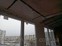 Остекление балкона под ключ в Киеве на ул. Йорданская 8 бригадой №13
