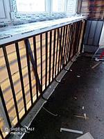 Балкон под ключ в Киеве (вынос балкона от пола). Работы бригады 13