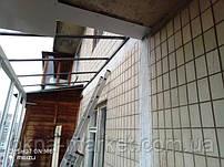 Устройство крыши на балконе в Киеве на ул.Йорданской 8