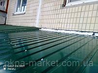 Остекление балкона с крышей Киев ул. Йорданская 8