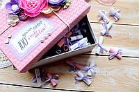 Коробка 100 причин любви (размер 18х16*10см +- 3/4см), фото 1