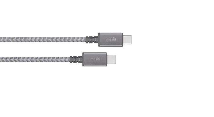 Кабель Moshi USB-C to USB-C 2m titanium gray (99MO084212) EAN/UPC: 4713057252419