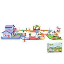 Ігровий набір Будиночок, дорога - трек, майданчик, машинка, 121 деталь, 889-907