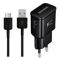 Зарядное устройство Samsung S8 Fast Charger USB Port 2A + кабель Type-C