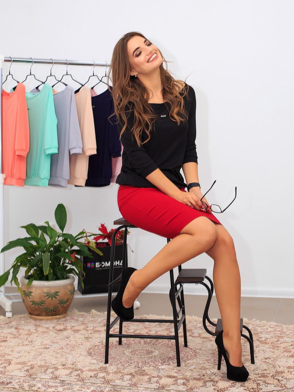 Класная черная женская блузка