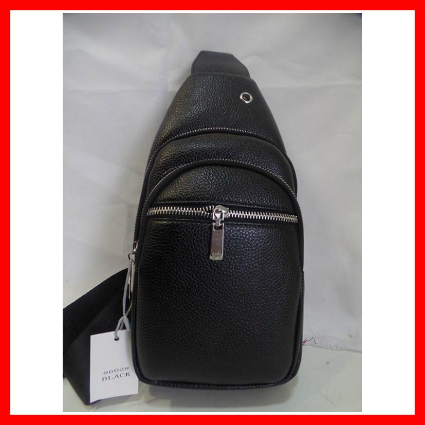 Мужская сумка через плечо бананка 3602 черная