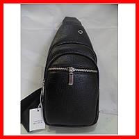Мужская сумка через плечо бананка 3602 черная, фото 1