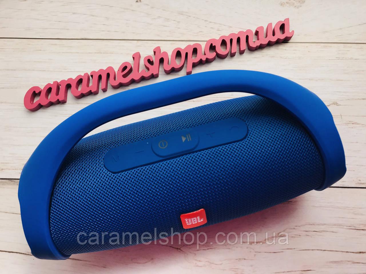 Колонка JBL Boombox Mini с ручкой (Replika) + встроенный Power Bank 4000mAh ЦВЕТ синий Бумбокс