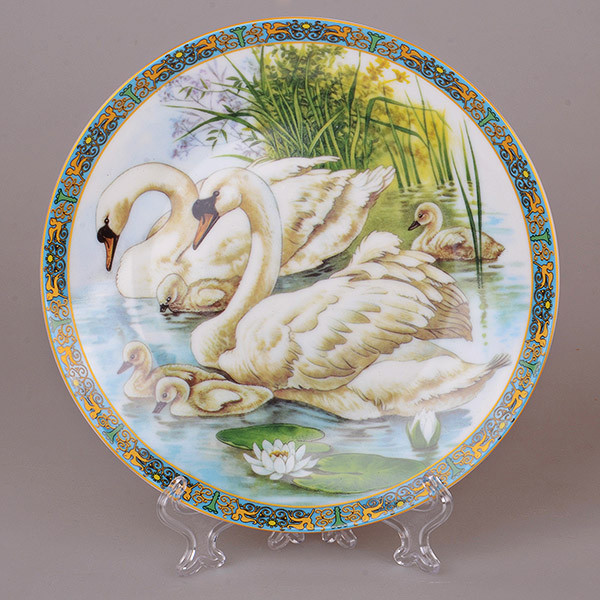 Декоративная тарелка Lefard Лебеди 20 см 921-0022