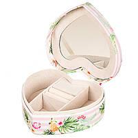 Шкатулка для украшений Сердце Фламинго Unicorn Studio 16х17х7 см0602JA, фото 2