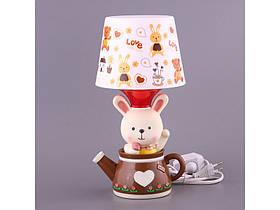 Светильник с абажуром Fashion Lamp Зайка 32 см 39-220